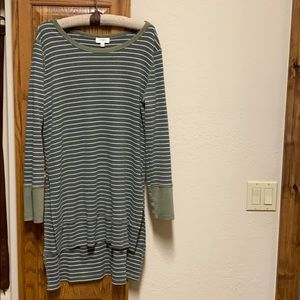 Cream and Olive green long tunic